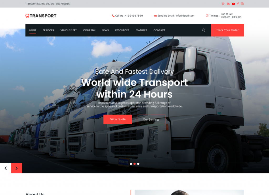 Transport WP Theme