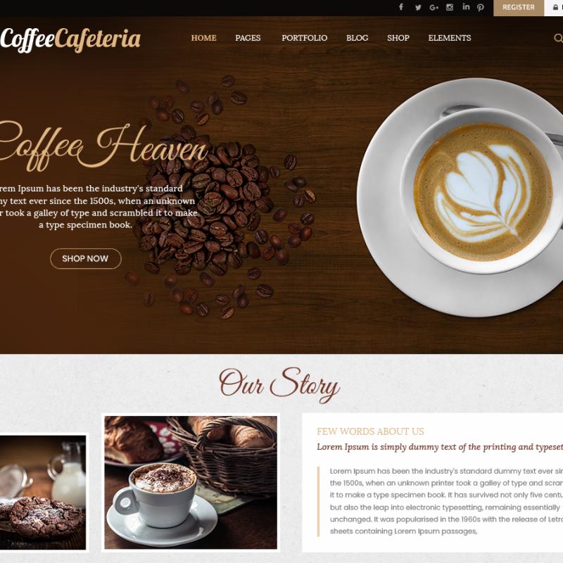 Free Cafe WordPress Theme