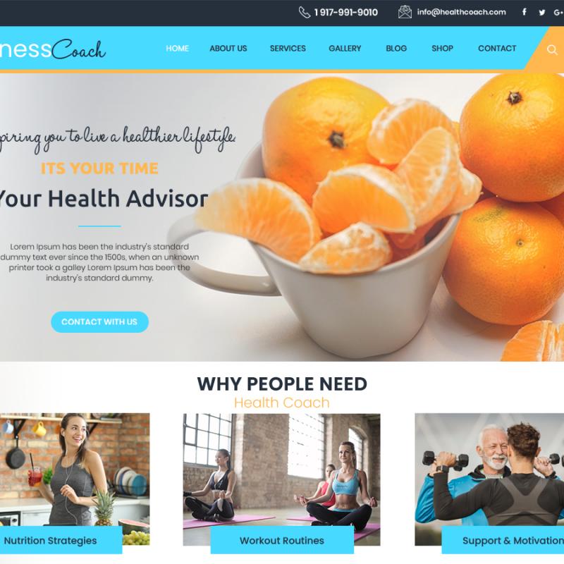 Free Fitness Coaching WordPress Theme