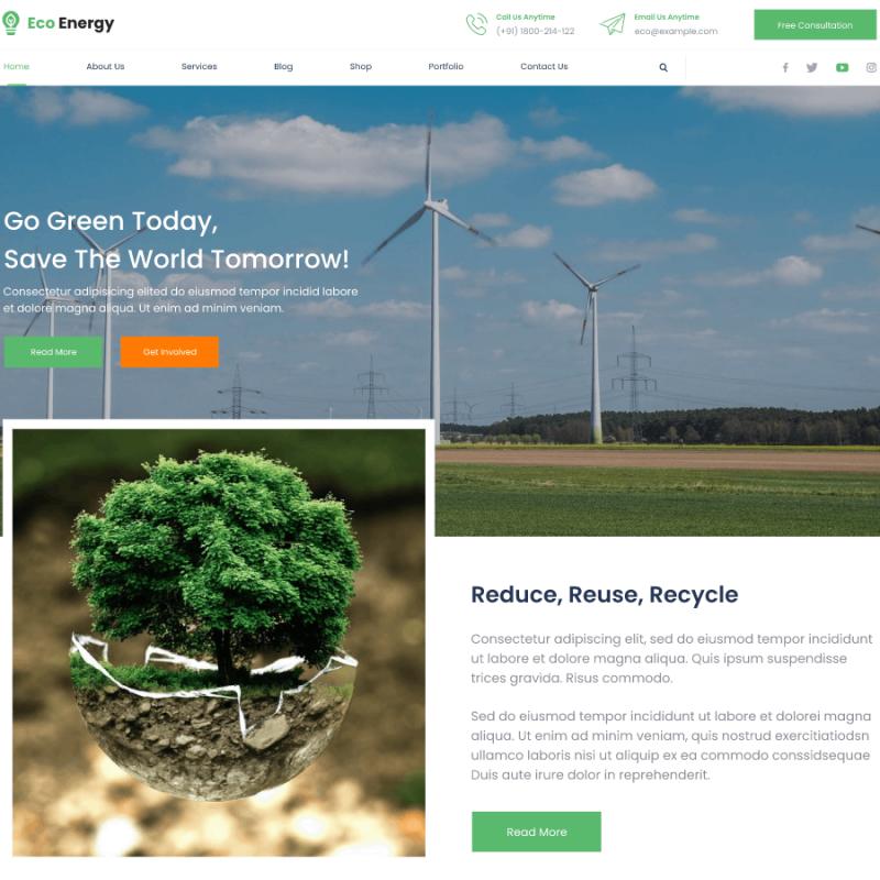 Free Ecology Nature WordPress Theme